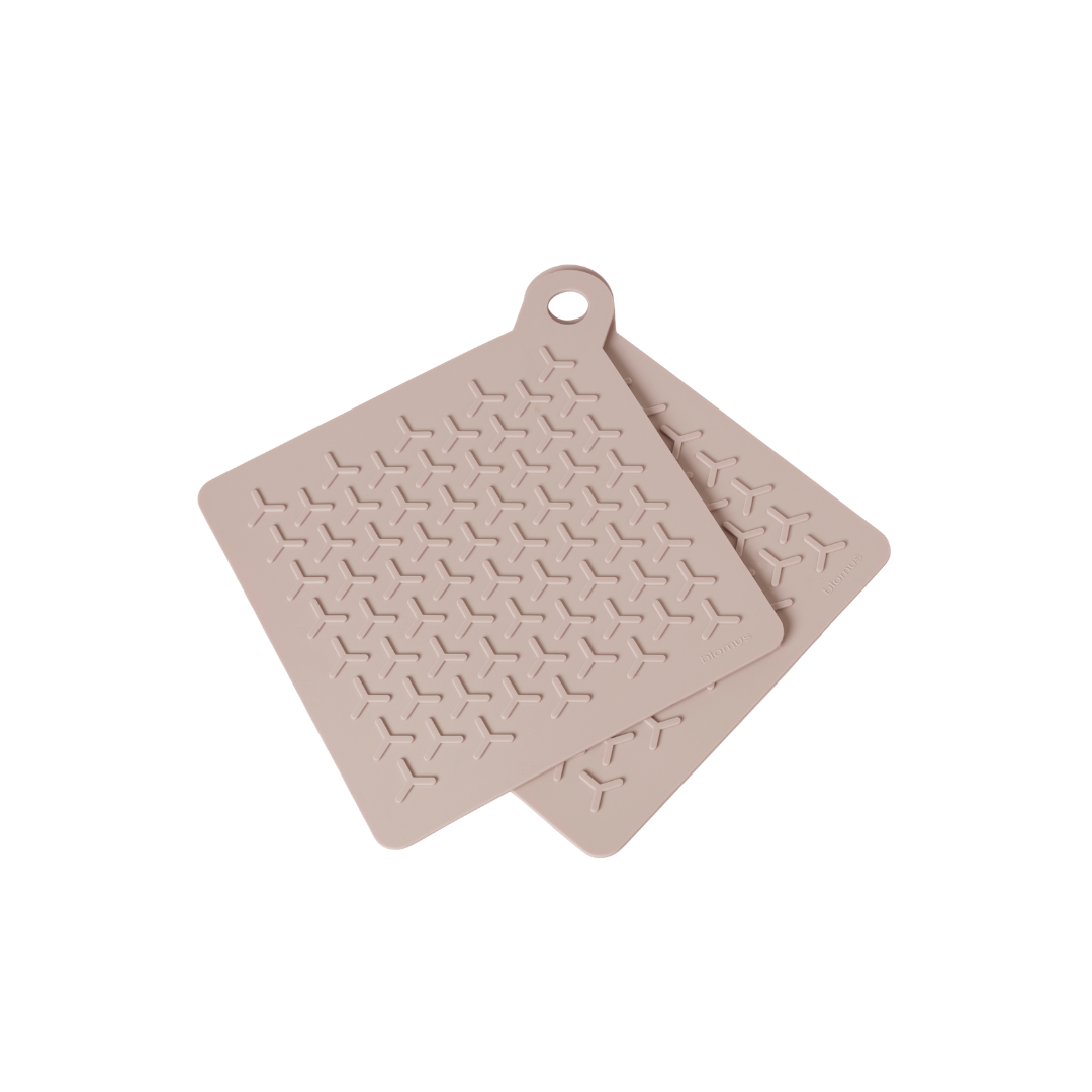 Blomus Flip Potholders - 2pk Rose Dust