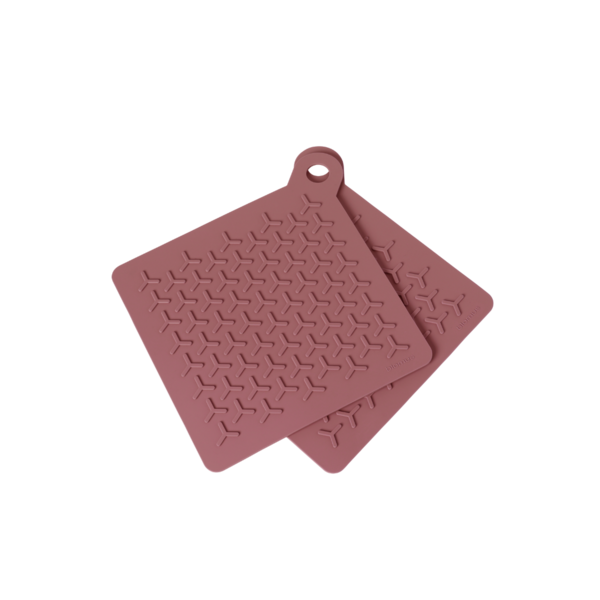 Blomus Flip Potholders - 2pk Withered Rose