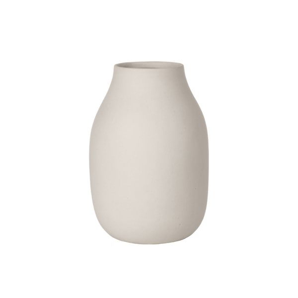 Blomus Colora Porcelain Vase  Moonbeam