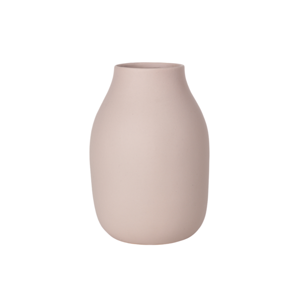 Blomus Colora Porcelain Vase  Rose Dust