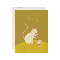 Red Cap Red Cap Greeting Cards Rats Foil Sympathy