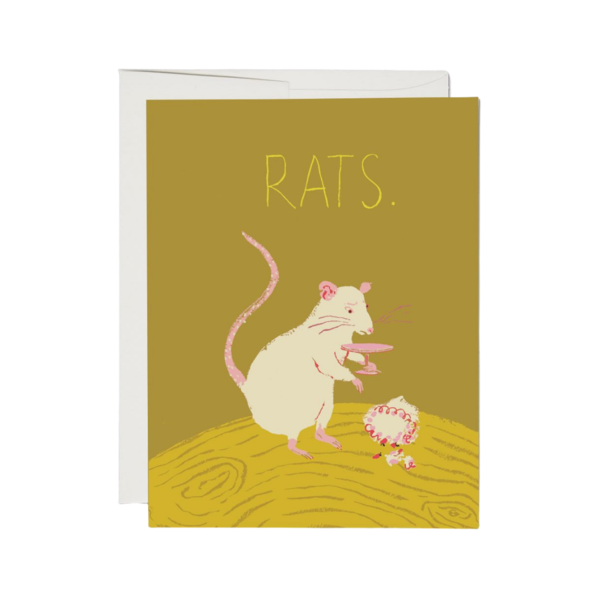 Red Cap Red Cap Greeting Cards Rats Foil Sympathy