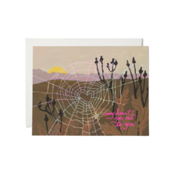 Red Cap Red Cap Greeting Cards Spider Web Heart