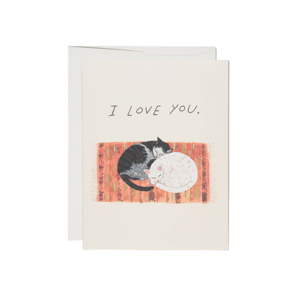 Red Cap Red Cap Greeting Cards Cat Cuddle