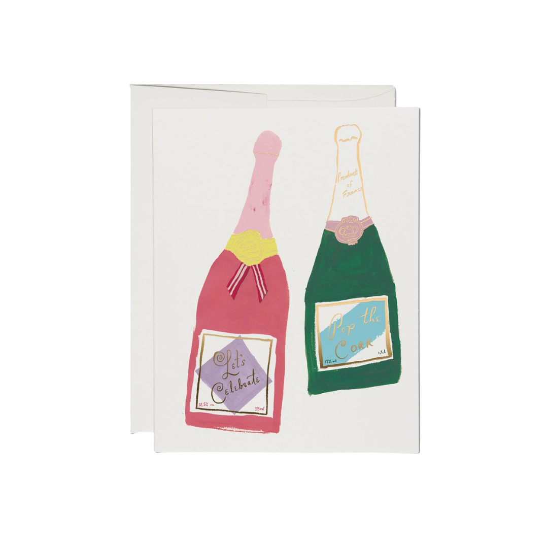 Red Cap Red Cap Greeting Cards Champagne