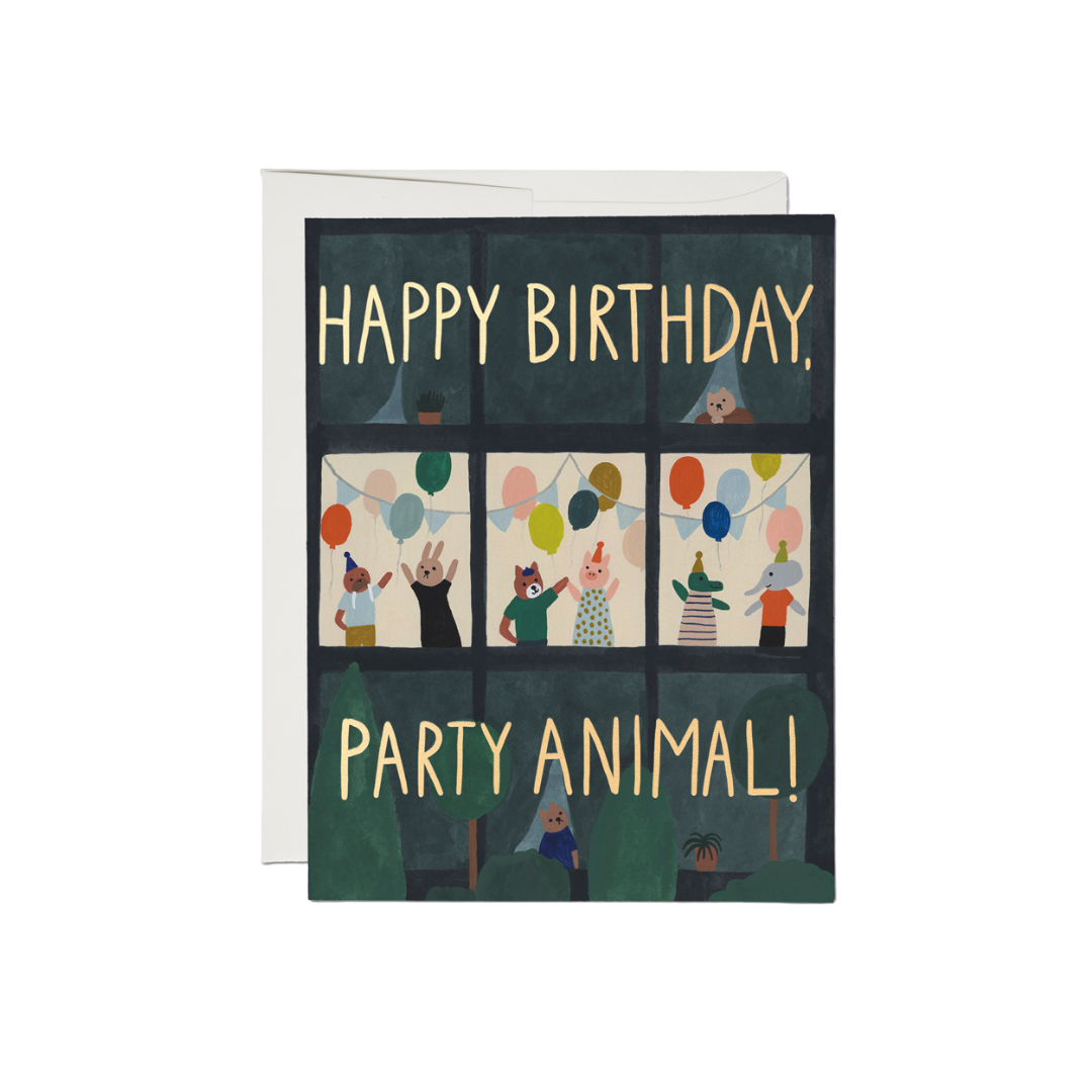 Red Cap Red Cap Greeting Cards Party Animals