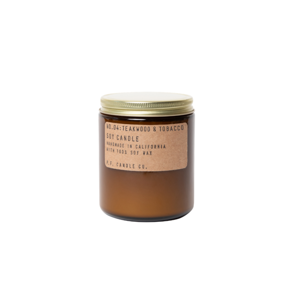 P. F. Candle Co. Soy Candle Teakwood & Tobacco - 7.2 Oz