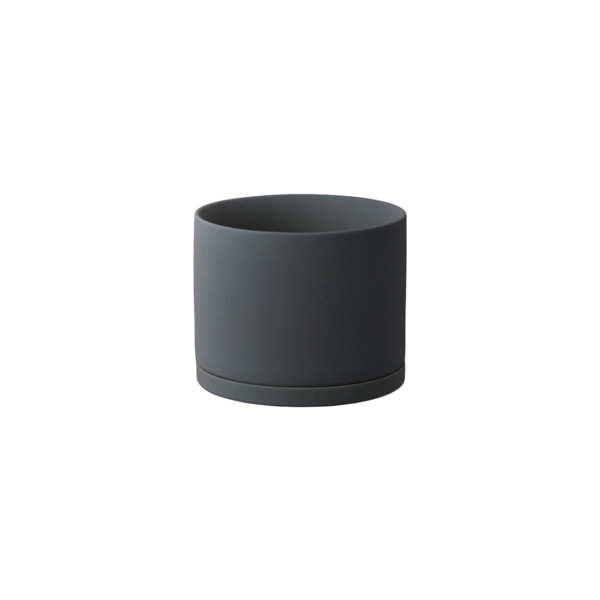 Kinto Plant Pot 191 135mm -  Dark Grey