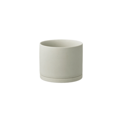 Kinto Plant Pot 191 135mm - Earth Grey