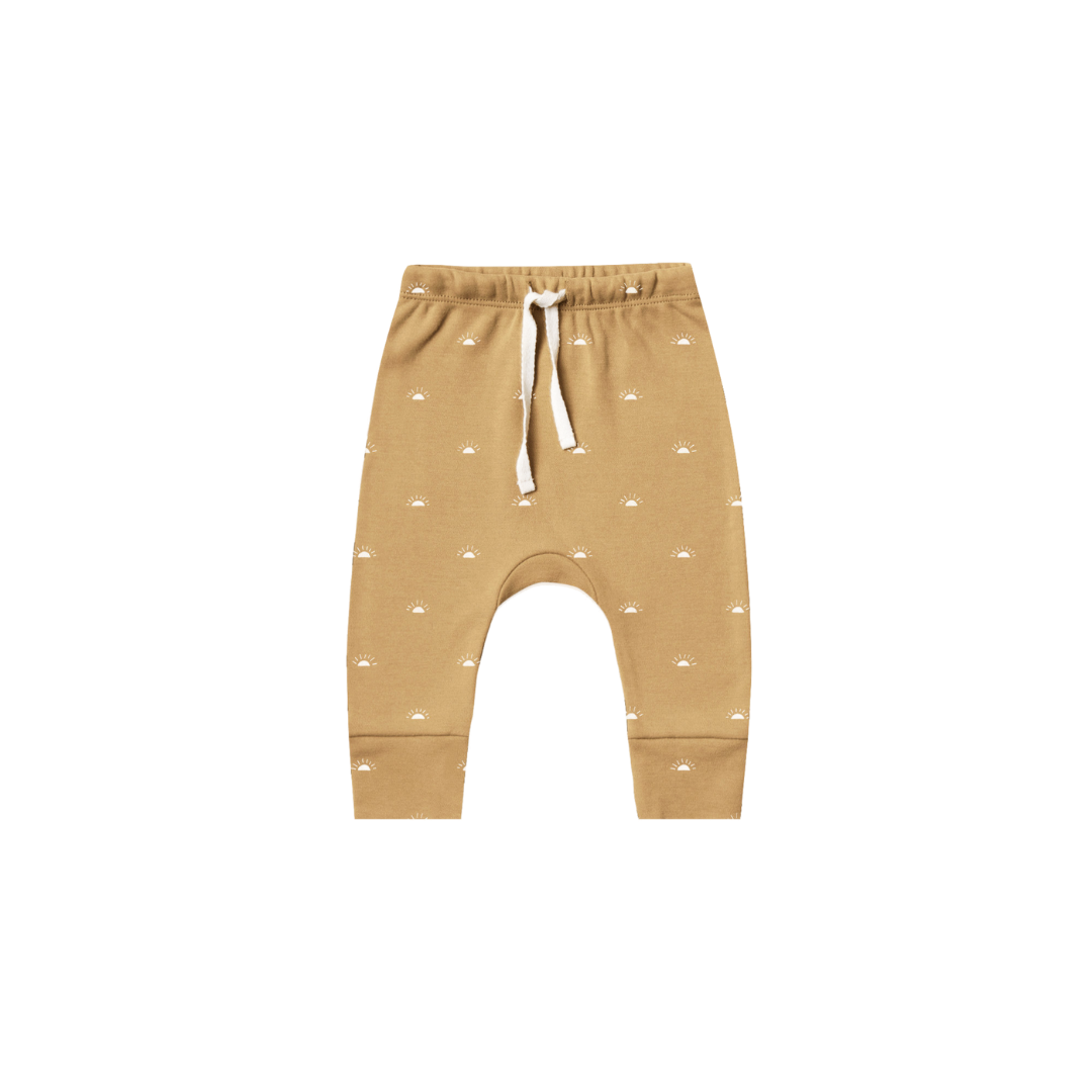 Quincy Mae Drawstring Pant - Honey
