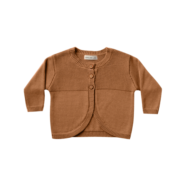 Quincy Mae Knit Cardigan - Walnut