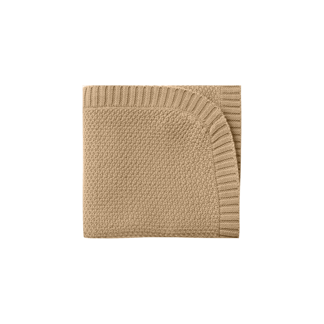 Quincy Mae Chunky Knit Baby Blankets - Honey