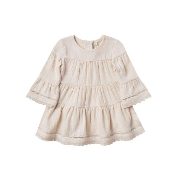 Quincy Mae Belle Dress - Pebble