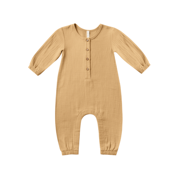 Quincy Mae Woven Jumpsuit - Honey