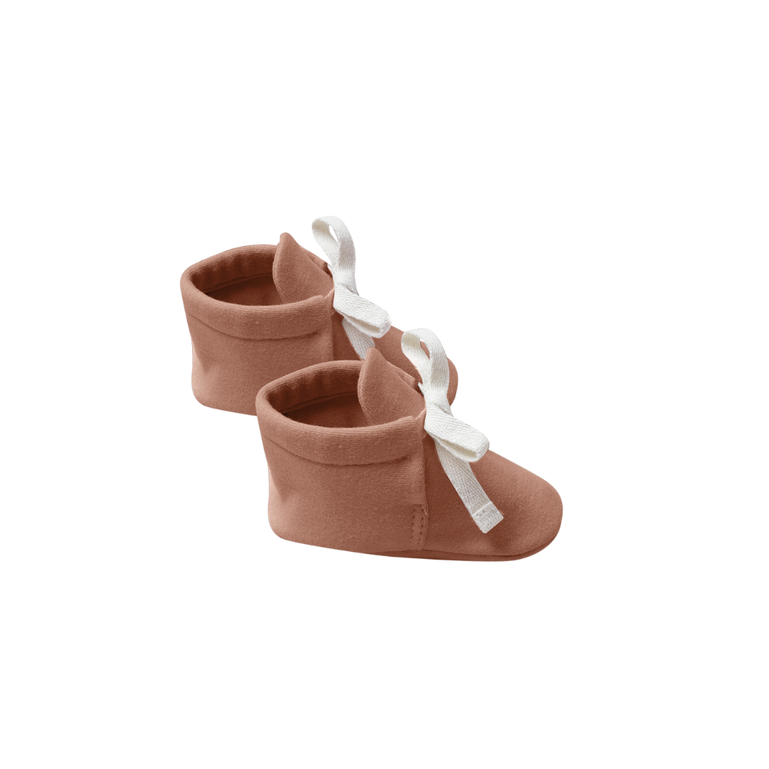 Quincy Mae Baby Booties - Clay