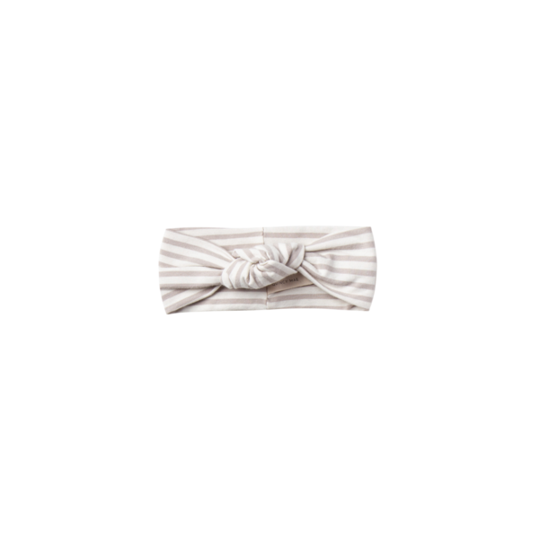 Quincy Mae Baby Turban - Fog Stripe