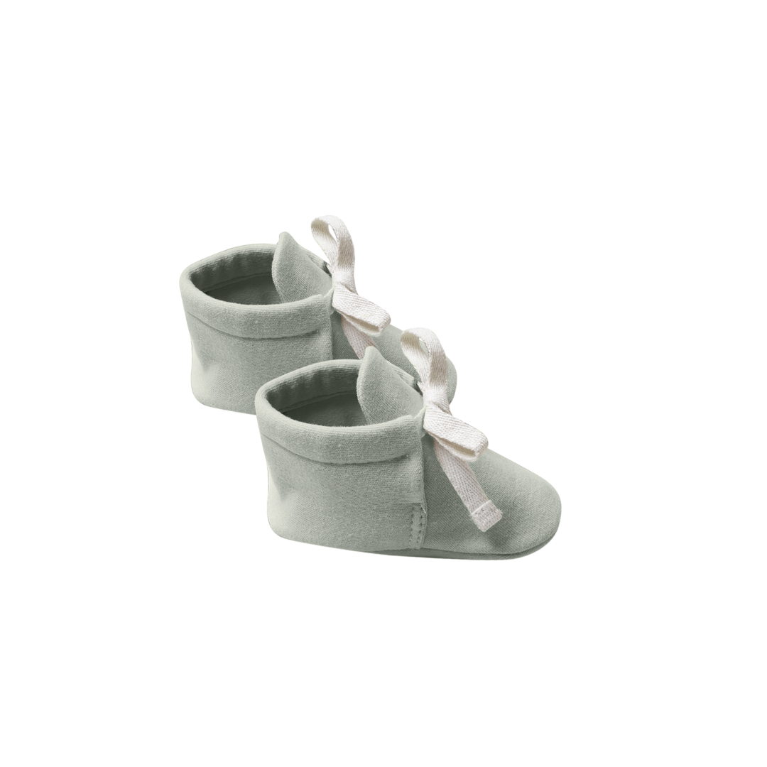 Quincy Mae Baby Booties - Sage