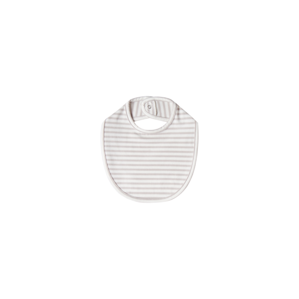 Quincy Mae Snap Bib - Fog Stripe One Size
