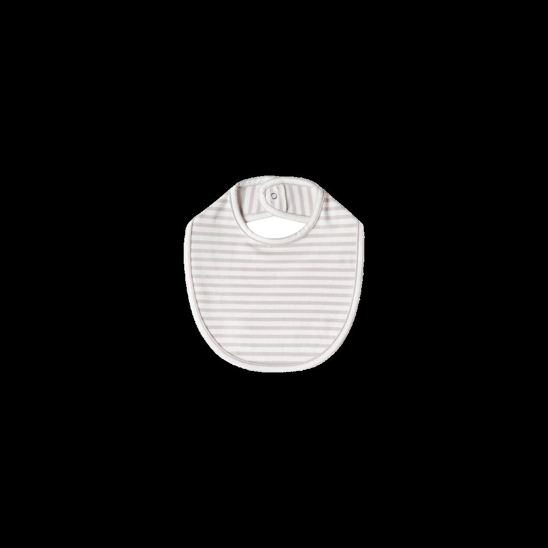 Quincy Mae Snap Bib - Fog Stripe One Size