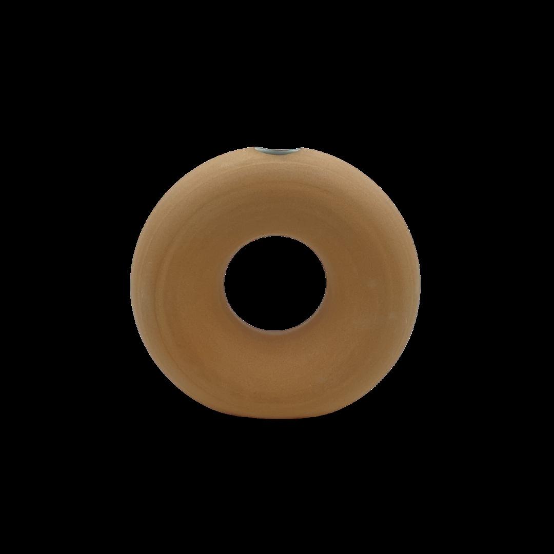 Lisa Warren Ceramics Donut Vase - Terracotta