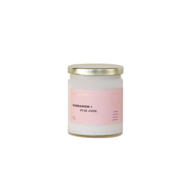 Homecoming Cardamom + Star Anise Soy Candle