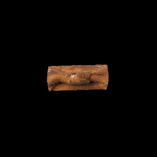 Quincy Mae Baby Turban - Walnut Stripe