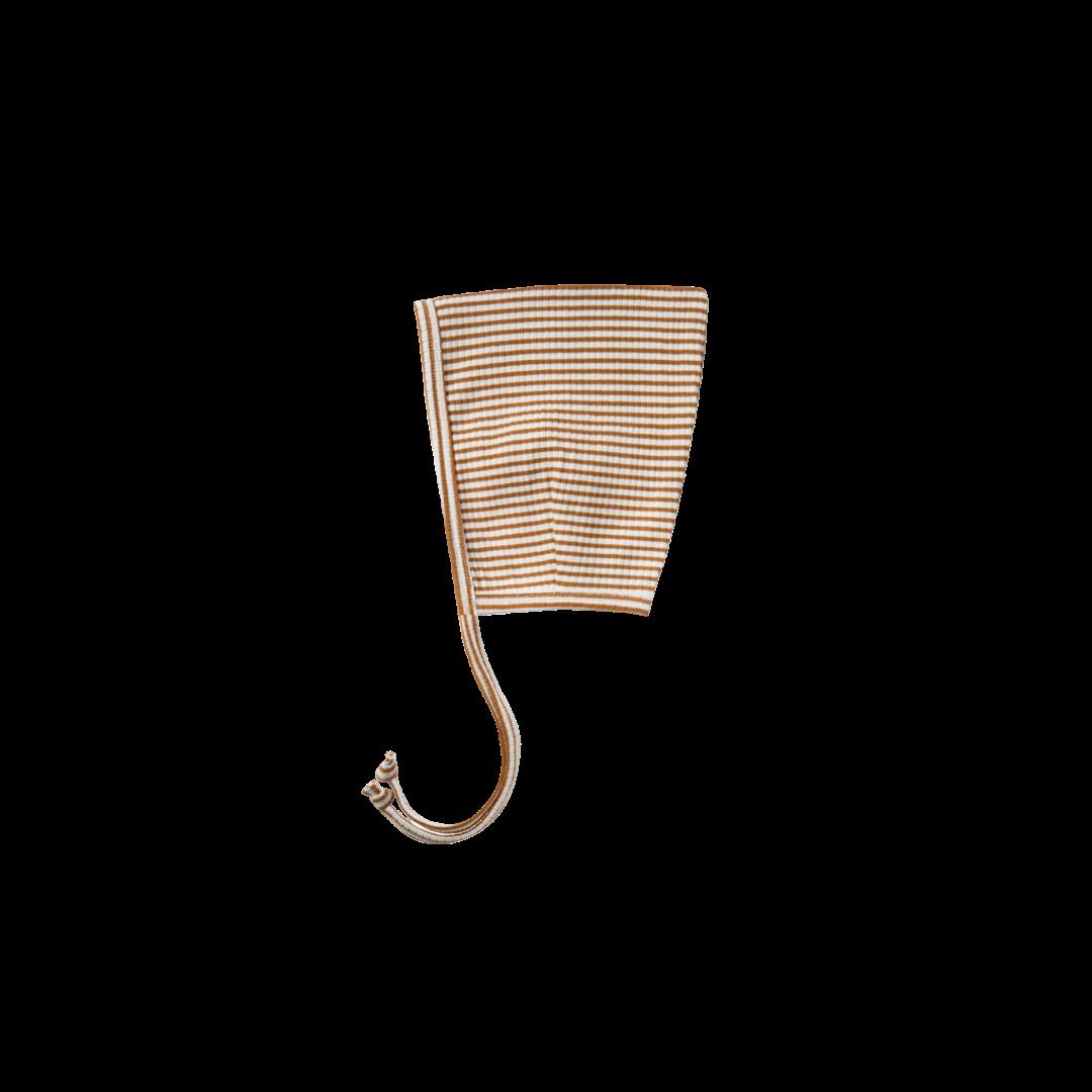 Quincy Mae Pixie Bonnet - Walnut Stripe