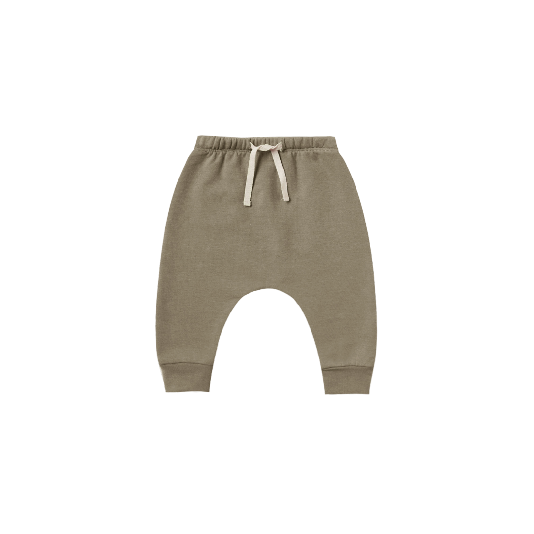 Quincy Mae Terry Cloth Sweatpant - Olive