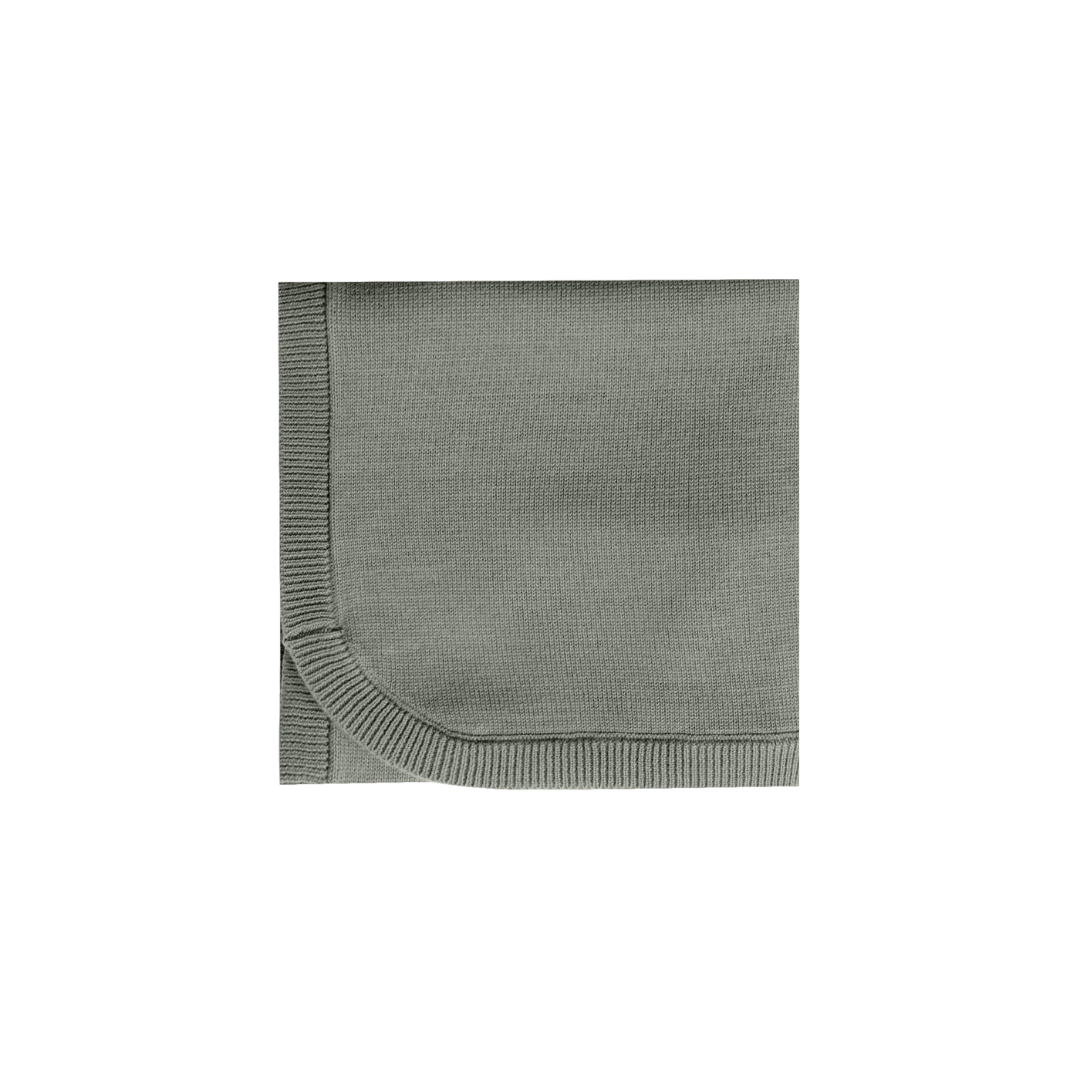 Quincy Mae Chunky Knit Baby Blanket - Eucalyptus