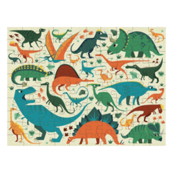 Mudpuppy Dinosaur Dig: 100pc Double Sided Puzzle