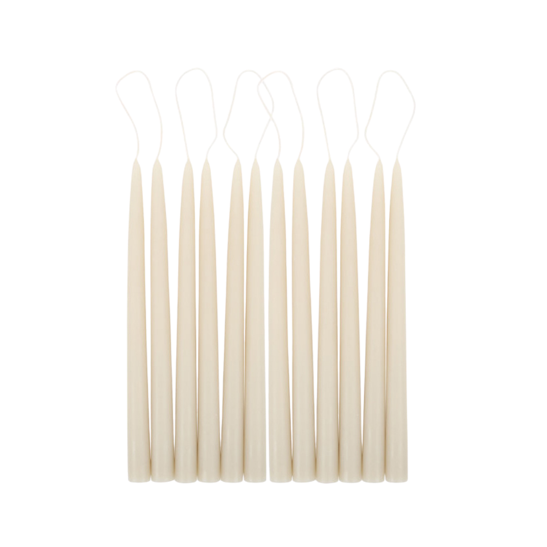 """The Floral Society Taper Candles - Parchment (12"""" pair)"""