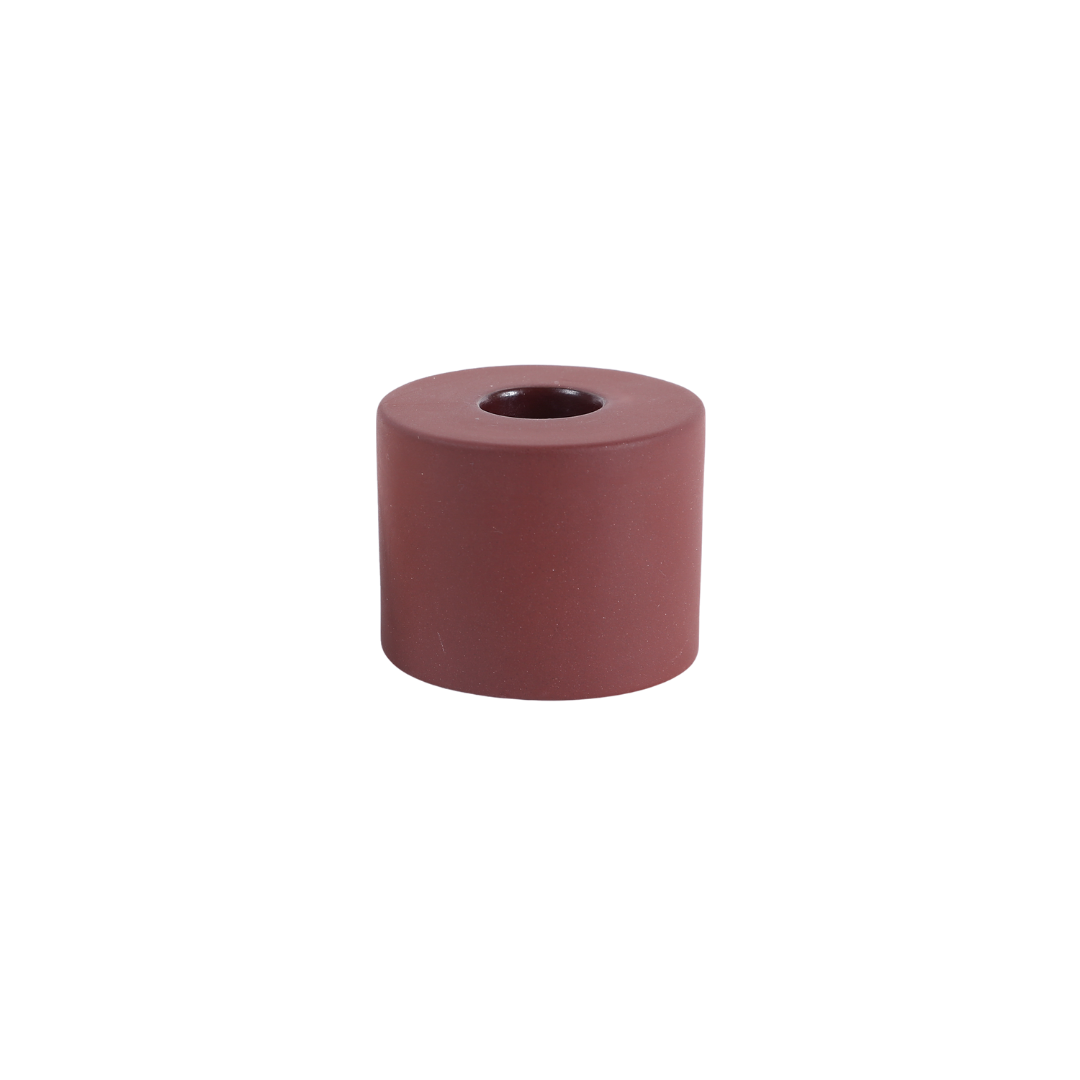 The Floral Society Petite Ceramic Taper Holder Cylinder - Earth