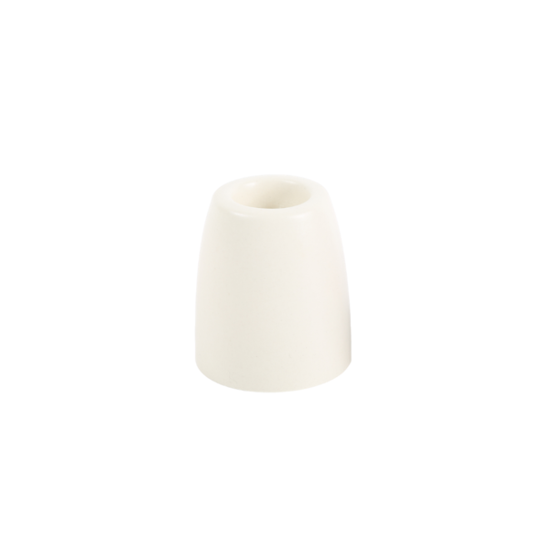 The Floral Society Petite Ceramic Taper Holder Cone - White