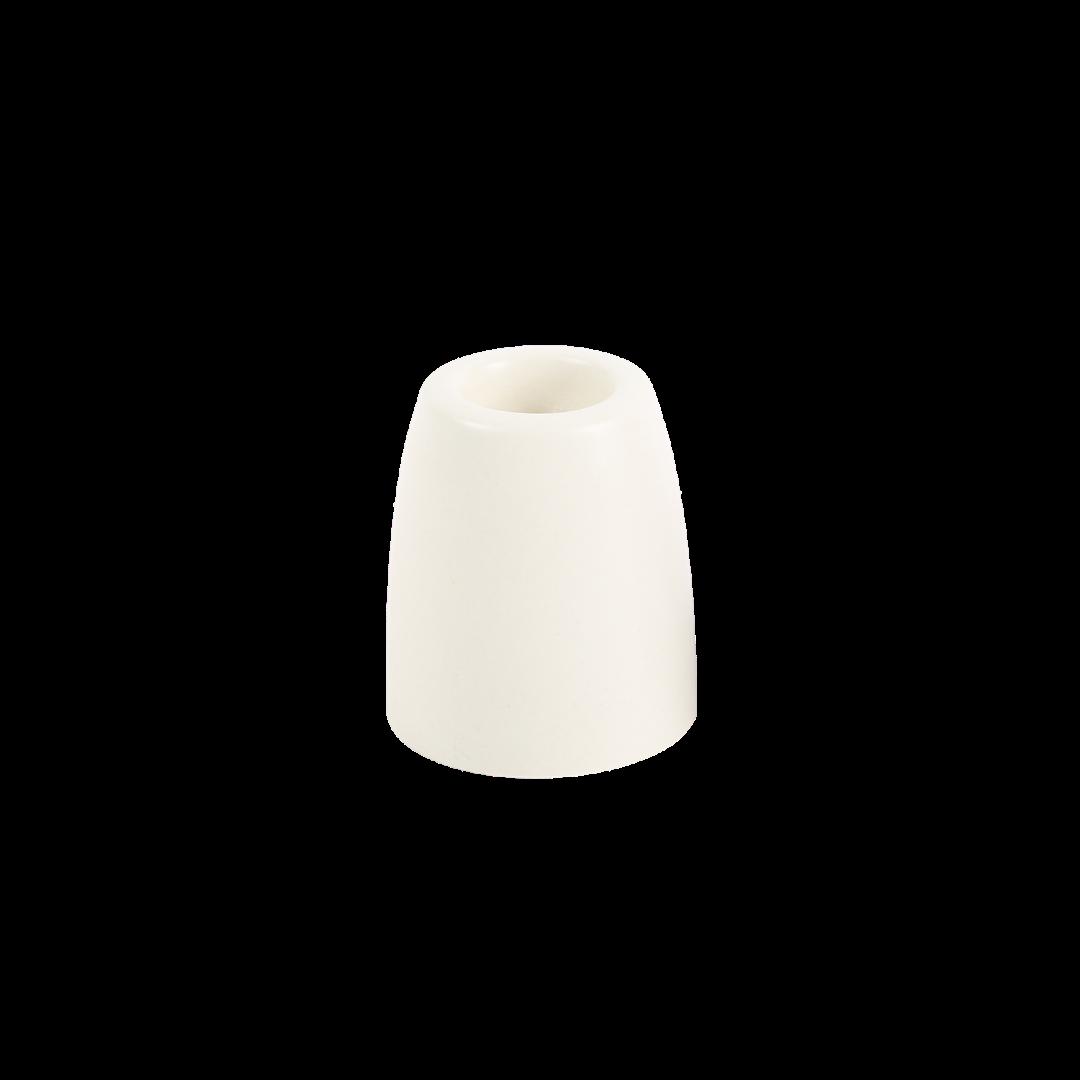 The Floral Society Petite Ceramic Taper Holder Cone - White
