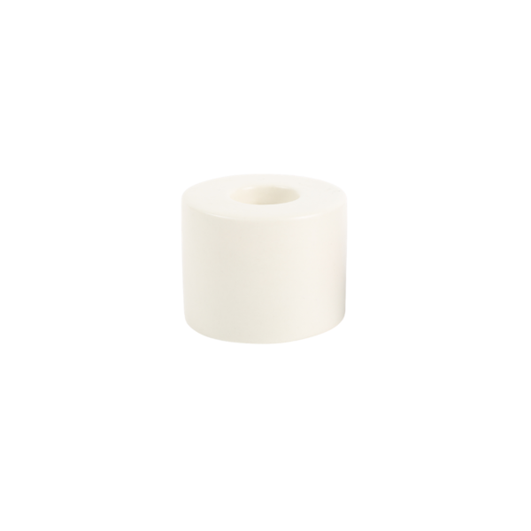 The Floral Society Petite Ceramic Taper Holder Cylinder - White