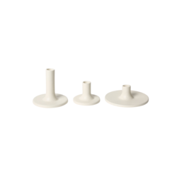 The Floral Society Ceramic Taper Holder - Matte White