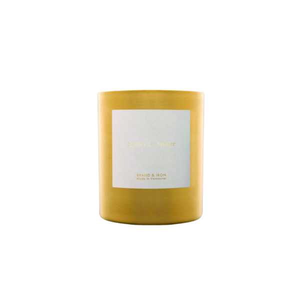 Brand + Iron Goldie Soy Candle Spruce + Amber 9 oz