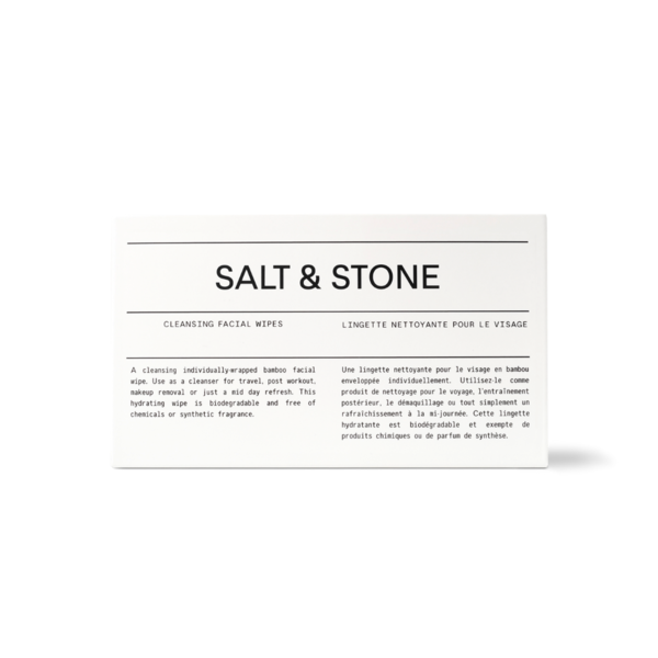 Salt & Stone Cleansing Facial Wipes - Box of 20