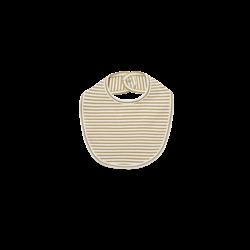 Quincy Mae Snap Bib-Gold Stripe