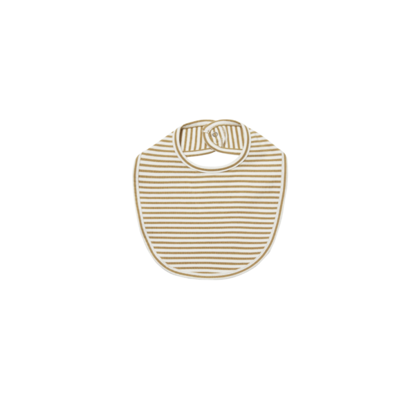 Quincy Mae Snap Bib-Gold Stripe