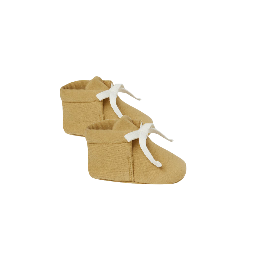 Quincy Mae Baby Booties - Gold