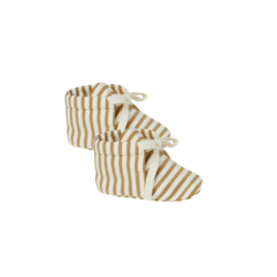Quincy Mae Baby Booties - Gold Stripe