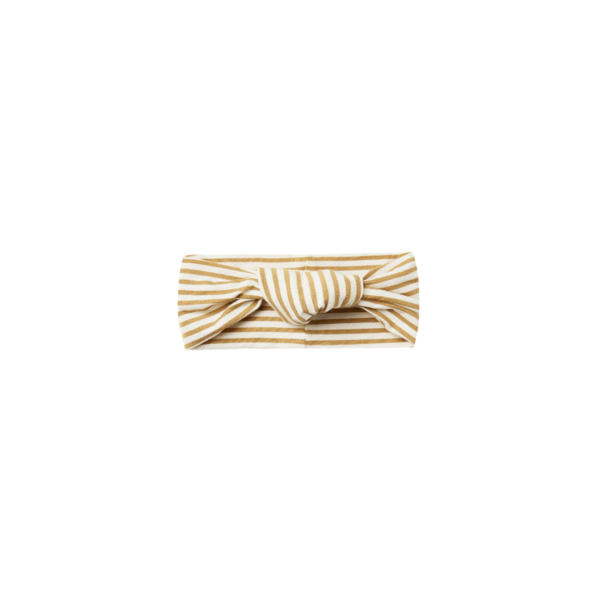 Quincy Mae Baby Turban - Gold Stripe