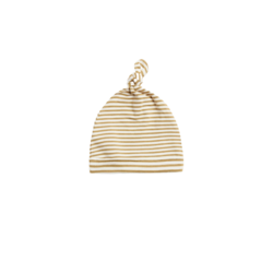 Quincy Mae Knotted Baby Hat - Gold Stripe