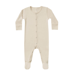 Quincy Mae Organic Full Snap Footie - Natural