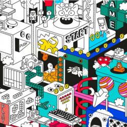 OMY Giant Colouring Poster 3D Video Game