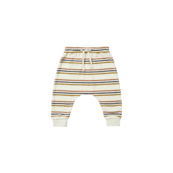 Quincy Mae Terry Cloth Sweatpant - Retro Stripe