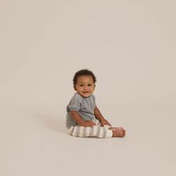 Quincy Mae Terry Cloth Sweatpant - Retro Stripe