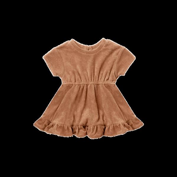 Quincy Mae Terry Dress - Terracotta