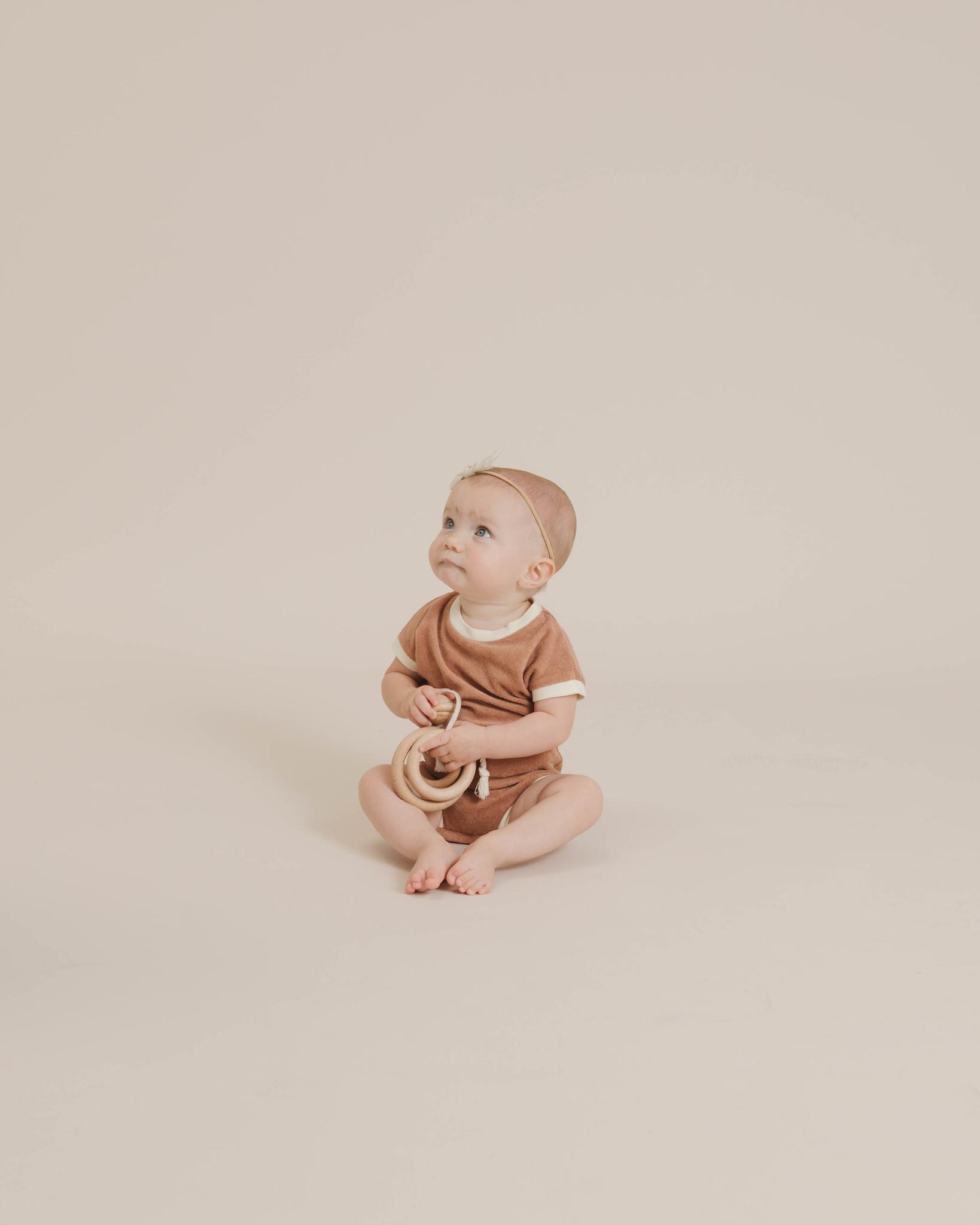 Quincy Mae Retro Romper - Terracotta